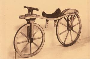 Nicephore Niepce's velocipede 1818